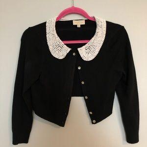 ModCloth black cropped cardigan